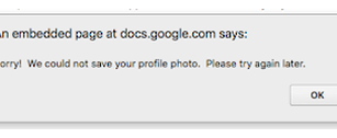 "How to Fix ""Sorry! We could not save your profile photo. Please try again later!"" in G Suite."