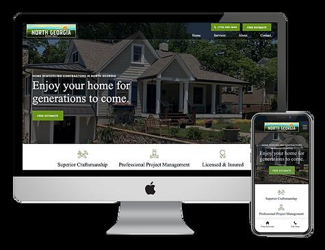 North Georgia Design Build website design by Phantom Eye