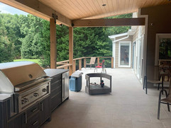 Deck remodel project for BBQ area