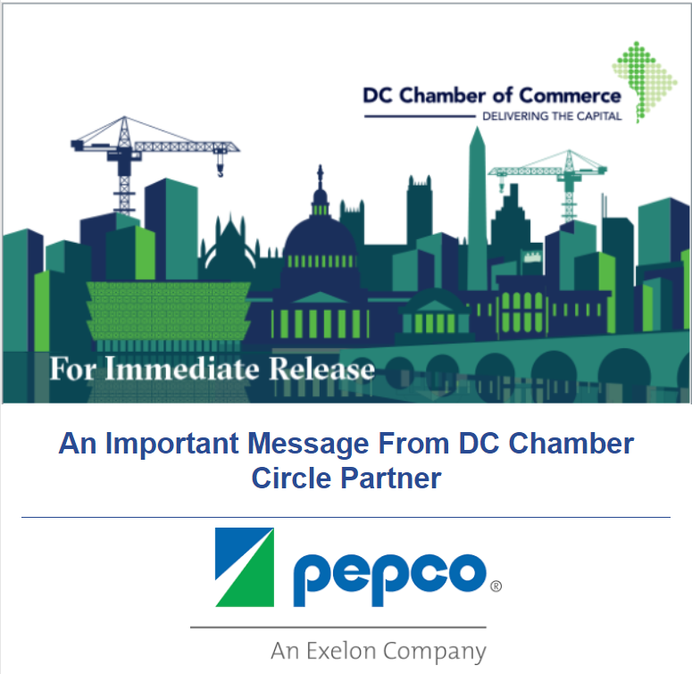 An Important Message From DC Chamber Circle Partner PEPCO