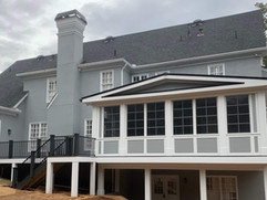 Exterior view deck remodeling