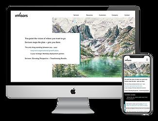 Invisors web design by Phantom Eye