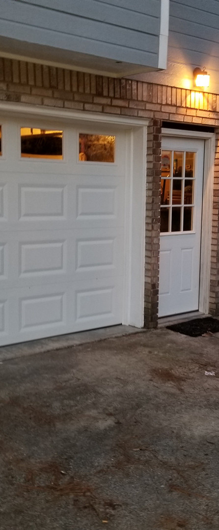 Garage doors and entrance