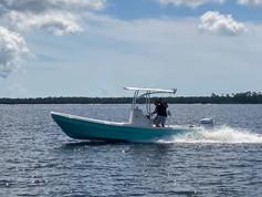 Panga Sports panga boat on the water