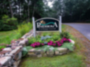 Pinederosa Campground welcome sign