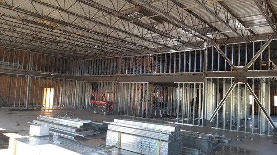Sun Drywall Montclair Project Metal Stud Framing