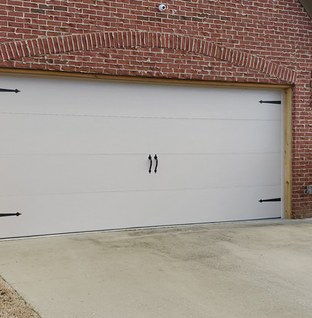 Large white garage door