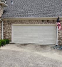Wide garage door without windows