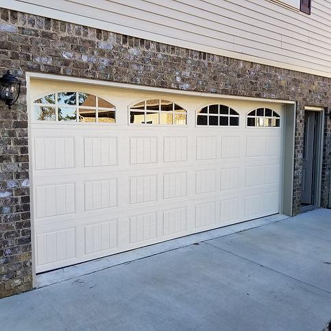 white garage door installed in birmingham Al