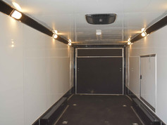 enclosed trailer with interior lighting