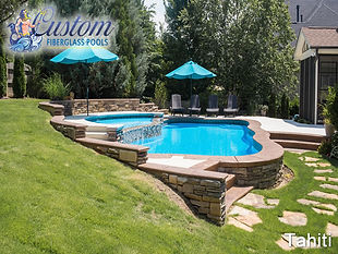 custom fiberglass pool installation