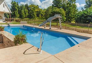 rectangle vinyl pool with slide