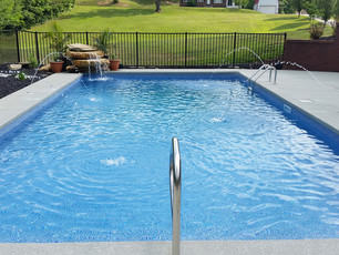 rectangle vinyl pool installation