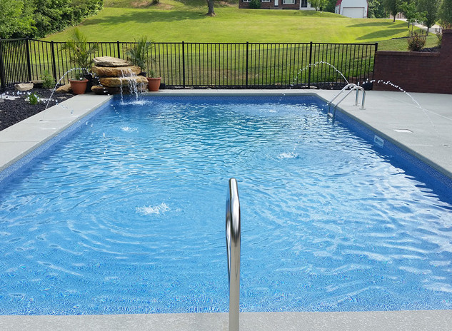 rectangle vinyl pool installation