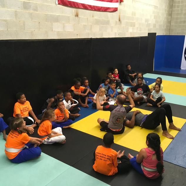 Fort Washington Kids Jiu-jitsu training