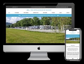 Appalachian RV Reosrt web design by Phantom Eye Design