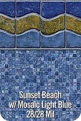 SunsetBeach vinyl pool color