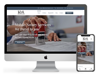 web design for notary company Keller and Associates