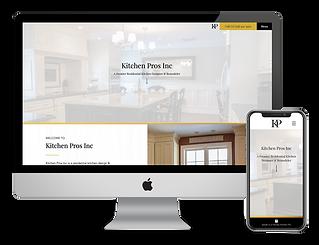 kitchen remodeling contractor website design for LI Kitchen Pros