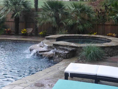 fiberglass spa built by Butler Pool and Spa