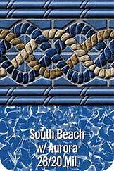 SouthBeach vinyl pool color