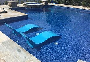 vinyl pool tanning ledge
