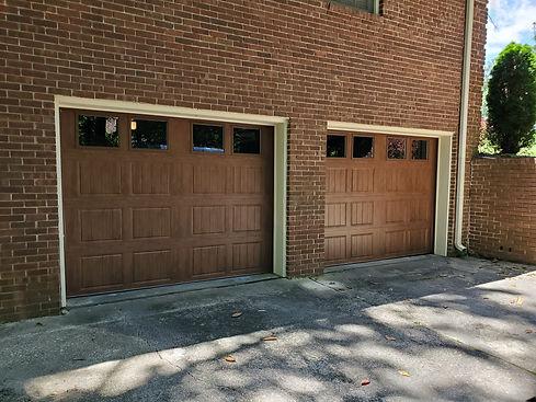 brown overhead garage doors sold and installed by Dodson Garage Doors in Birmingham, AL