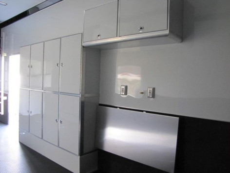 Enclosed Stacker Trailer Interior Cabinets