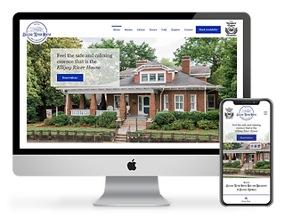 web design for bed and breakfast Ellijay River House