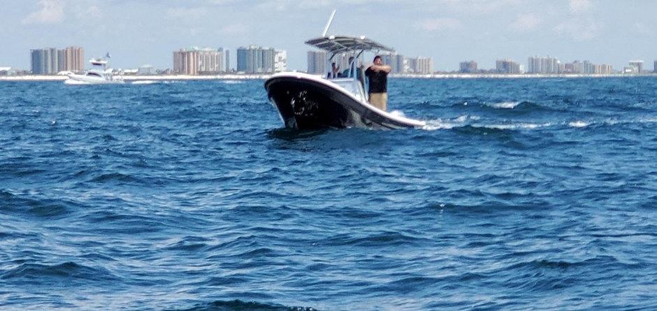 Panga boat on the water