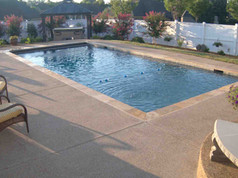 rectangle fiberglass pool built by Butler Pool and Spa