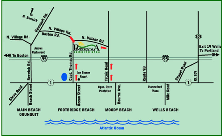 Map to Pinederosa Campground