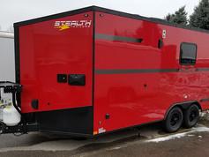 custom red trailer