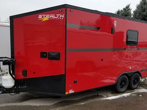 custom red trailer