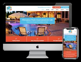 pool builder contractor website design for Butler Pools