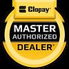 Clopay Master Dealer logo Dodson Garage Doors sales