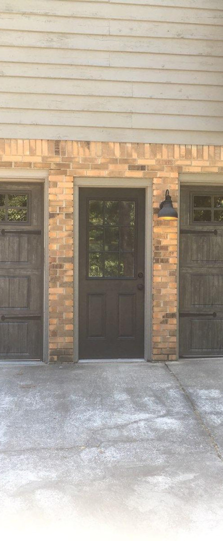 Rustic garage doors