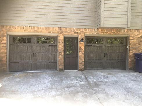 Set of two rustic garage doors