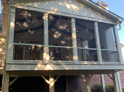 Screened in porch Exterior view deck remodel