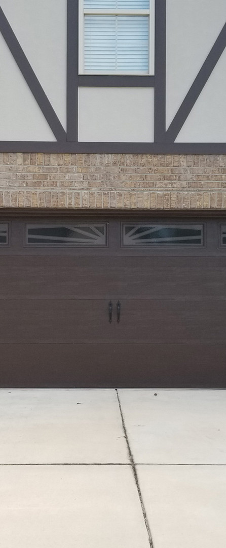Wide garage door