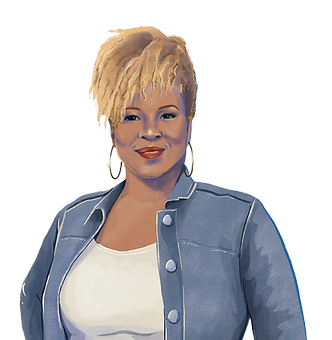 Painting of Michelle Amor