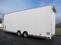 white enclosed trailer