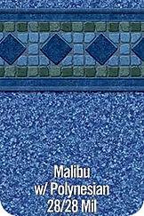 Malibu vinyl pool color