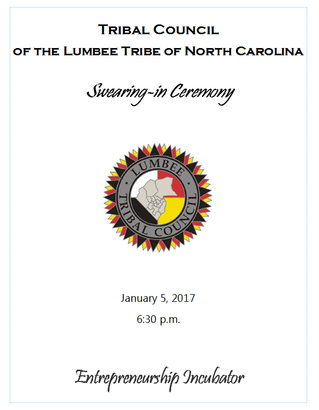 Tribal Council of the Lumbee Tribe of North Carolina Swearing–In Ceremony