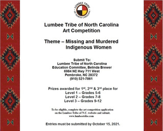 Lumbee Tribe of North Carolina Art Competition