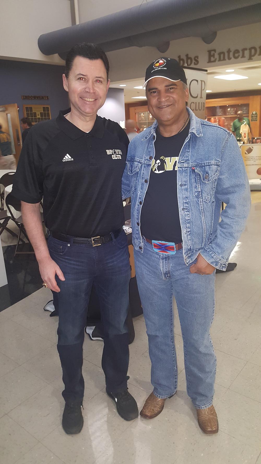 NFL Referee Brad Allen and Chairman Harvey Godwin.