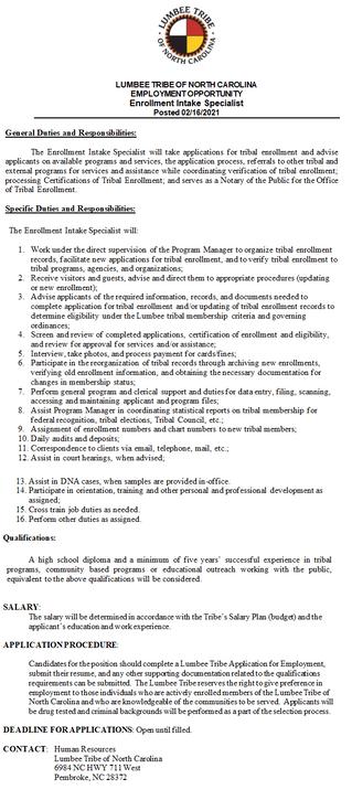 Enrollment Intake Specialist