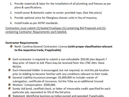 Invitation to Bid LTNC Maint BLDG Plumbing ITB