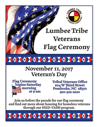 Lumbee Tribe Veterans Flag Ceremony