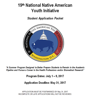 19th National Native American Youth Initiative Student Application Packet